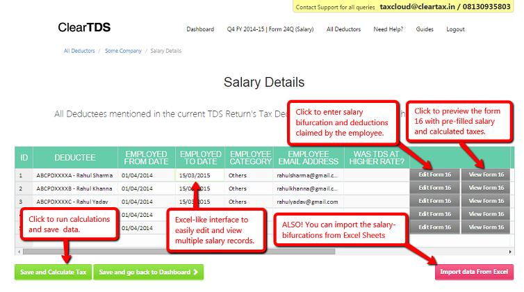 Salary Details screenshot
