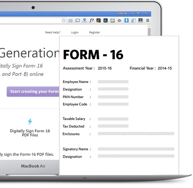 ClearTDS Form 16 generation